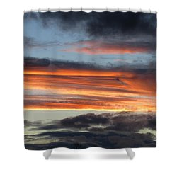 Streaky Sunset Shower Curtain