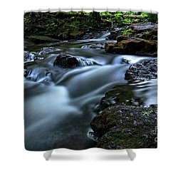 Stream Over Rocks Shower Curtain