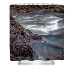 Stream Story Shower Curtain