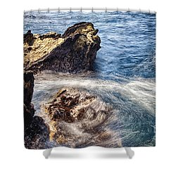 Shower Curtain featuring the photograph Stream by Tad Kanazaki