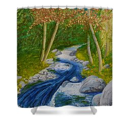 Stream Two Shower Curtain