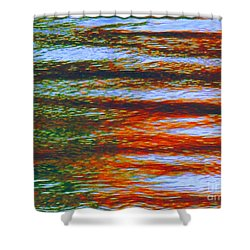 Streaming Rays Of Love Shower Curtain