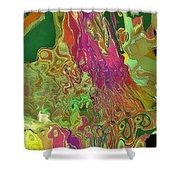 Streaming Saree Shower Curtain by Alika Kumar