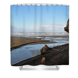 Streams To Sea Shower Curtain