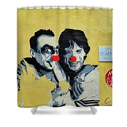 Street Art In The Trastevere Neighborhood In Rome Italy Shower Curtain