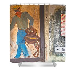 Shower Curtain featuring the photograph Street Art - Melba, Id by Dart Humeston