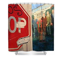 Street Art Washington D.c.  Shower Curtain by Clay Cofer