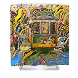 Street Car Lisbon Shower Curtain