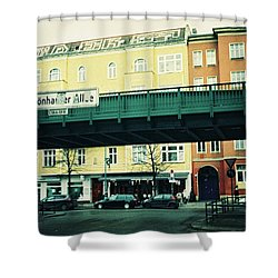 Street Cross With Elevated Railway Shower Curtain