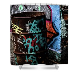 Shower Curtain featuring the photograph Street Gallery by Odd Jeppesen