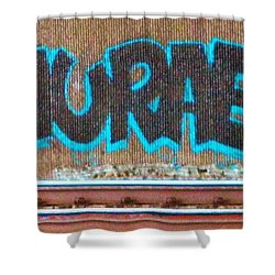 Street Graffiti-hooray Shower Curtain