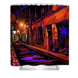 Street In Avignon, France Shower Curtain