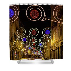 Street In Coimbra Shower Curtain by Patricia Schaefer