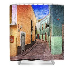 Street In Guanajuato Shower Curtain
