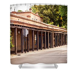 Street In Old Town Santa Fe Shower Curtain
