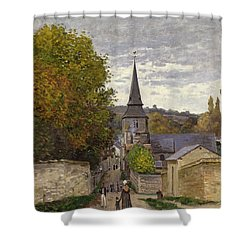 Street In Sainte Adresse Shower Curtain by Claude Monet