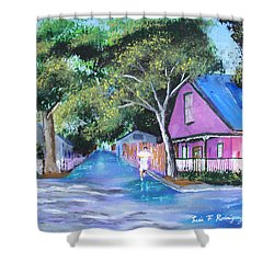 Street In St Augustine Shower Curtain by Luis F Rodriguez