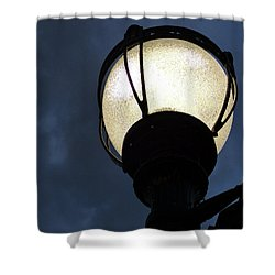 Street Lamp At Night Shower Curtain