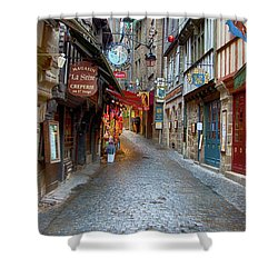 Street Le Mont Saint Michel Shower Curtain