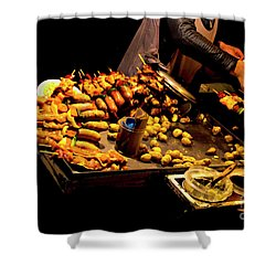 Shower Curtain featuring the photograph Street Meat by Al Bourassa