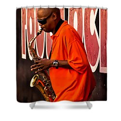 Street Music Shower Curtain by Christopher Holmes