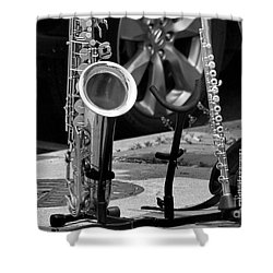 Street Music Shower Curtain by John S