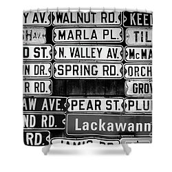 Shower Curtain featuring the photograph Street Names by Colleen Kammerer