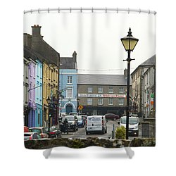 Streets Of Cahir Shower Curtain by Marie Leslie