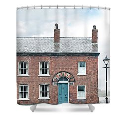 Street Of Working Class Terraced Houses Shower Curtain