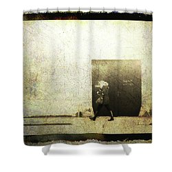 Street Photography - Closed Door Shower Curtain by Siegfried Ferlin
