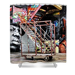 Street Portraiture Shower Curtain