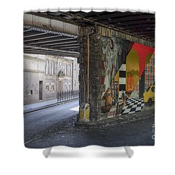 Street Scene - Edinburgh Shower Curtain by Amy Fearn