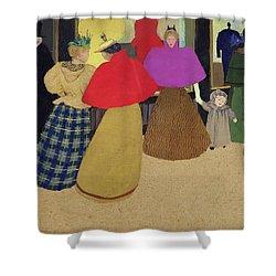 Street Scene Shower Curtain by Felix Edouard Vallotton