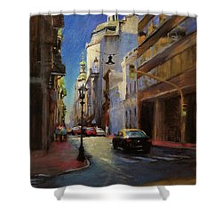 Street Scene In Buenos Aires Shower Curtain by Peter Salwen