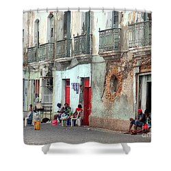 Street Scene Luanda, Angola Shower Curtain