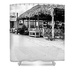 Street Scene On Caye Caulker Shower Curtain