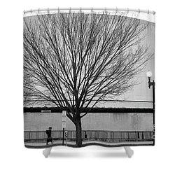 Street Shot At The Hirshorn  Shower Curtain