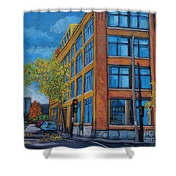 Street Study Montreal Shower Curtain
