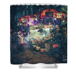 Street Vendor Food Stand Shower Curtain