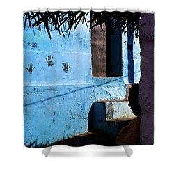 Streetcorner, Kanyakumari Shower Curtain by Marji Lang