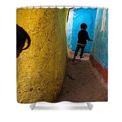 Streetcorner Shower Curtain by Marji Lang