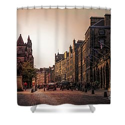 Streets Of Edinburgh Scotland  Shower Curtain