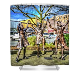 Shower Curtain featuring the photograph Streets Of Everett by Spencer McDonald