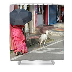 Streets Of Kochi Shower Curtain by Jennifer Mazzucco