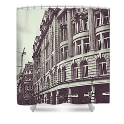 Streets Of London Shower Curtain by Trystan Oldfield