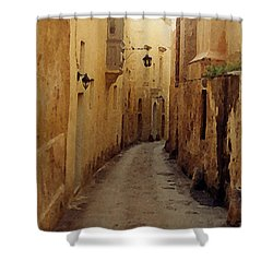 Shower Curtain featuring the photograph Streets Of Malta by Debbie Karnes
