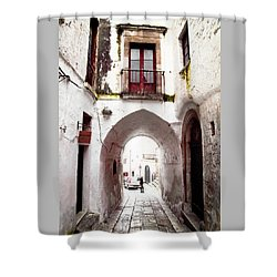 Streets Of Ostuni Shower Curtain