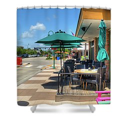 Streetside Dining Shower Curtain