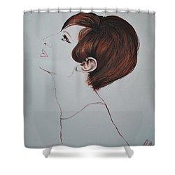 Barbra Streisand Shower Curtain by Maja Sokolowska