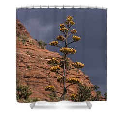 Stretching Into A Threatening Sky Shower Curtain